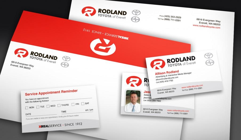 Rodland Toyota Brand Identity